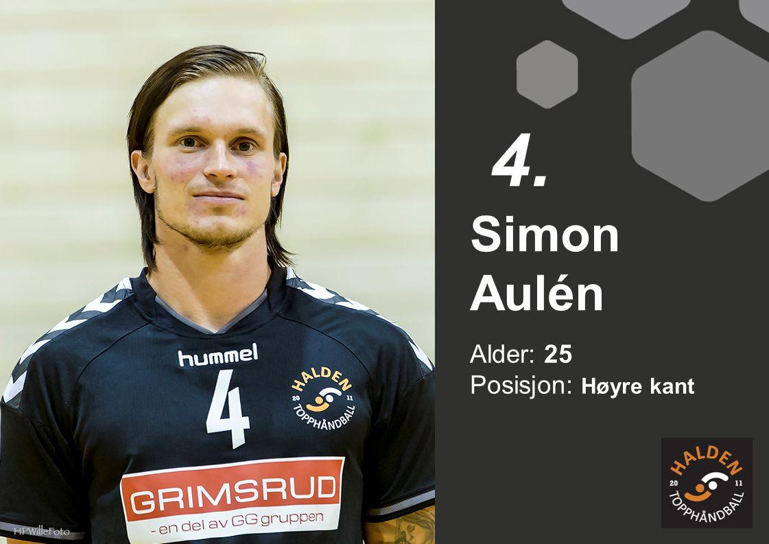 Alder: 25 Posisjon: Høyre kant Simon Aulén 4.