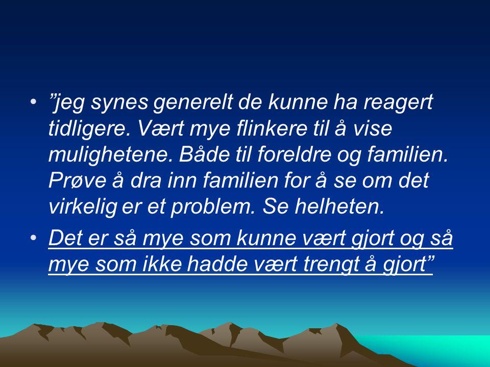 Reindriftsfamilier og barnevernet - et sitat : Helheten i det samiske samfunnet er viktig.