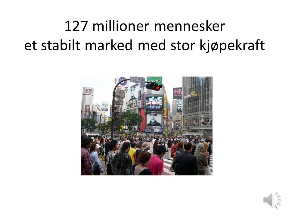 127 millioner mennesker et stabilt marked med stor kjøpekraft