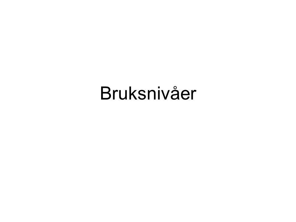 Bruksnivåer