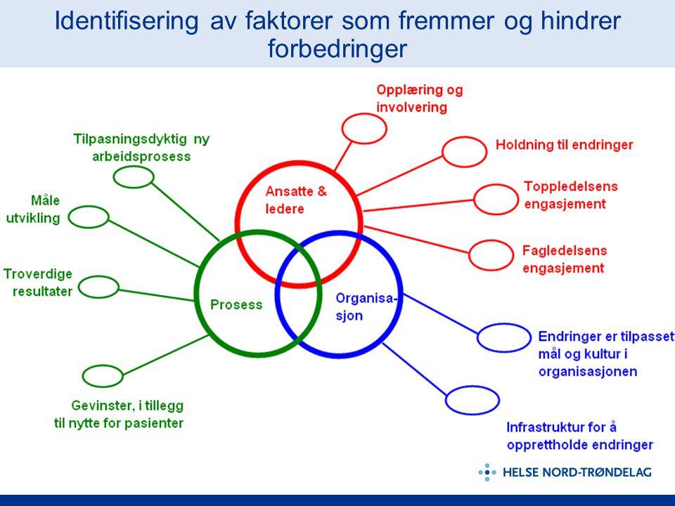 Identifisering av faktorer som fremmer og hindrer forbedringer