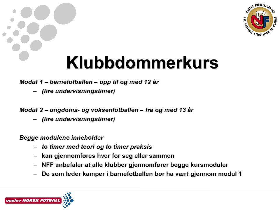 Klubbdommerkurs 1.Spillebanen –For sjuerfotball Spillebanen bør være minimum 40 x 20 m.