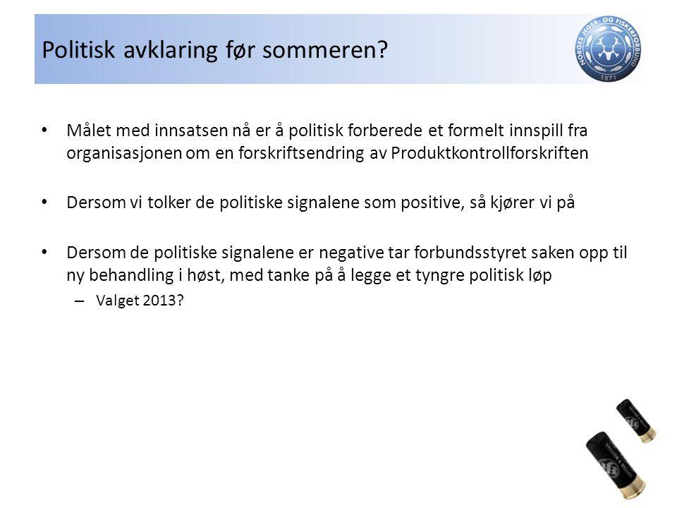 Politisk avklaring før sommeren.