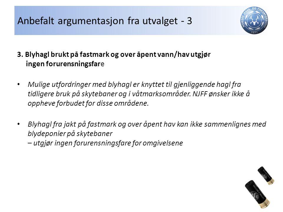 Anbefalt argumentasjon fra utvalget - 3 3.