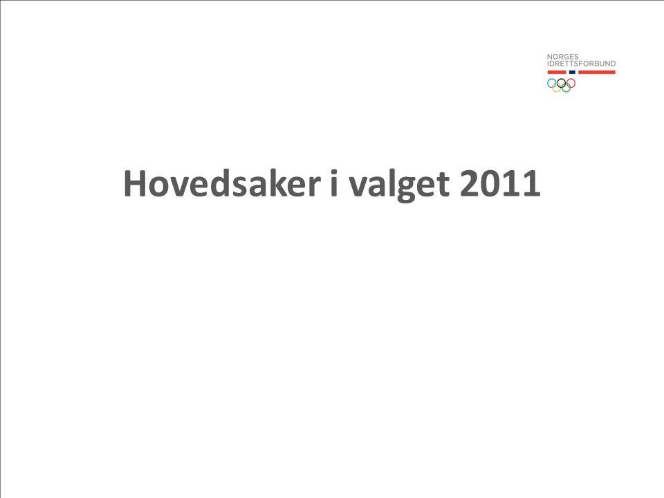 Hovedsaker i valget 2011