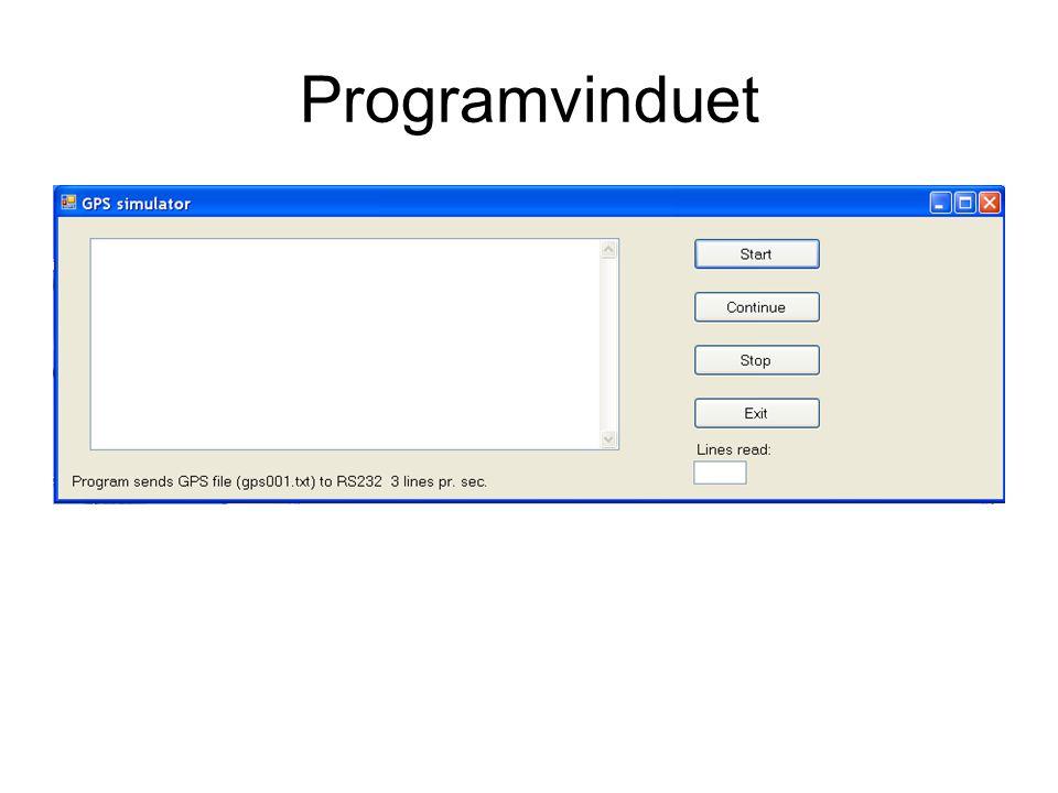Programvinduet