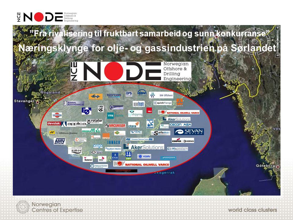 """Næringsklynge for olje- og gassindustrien på Sørlandet """"Fra rivalisering til fruktbart samarbeid og sunn konkurranse"""""""
