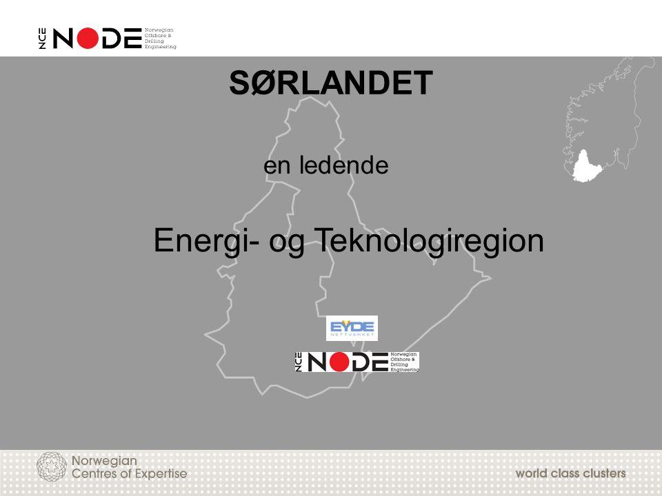 en ledende Energi- og Teknologiregion SØRLANDET