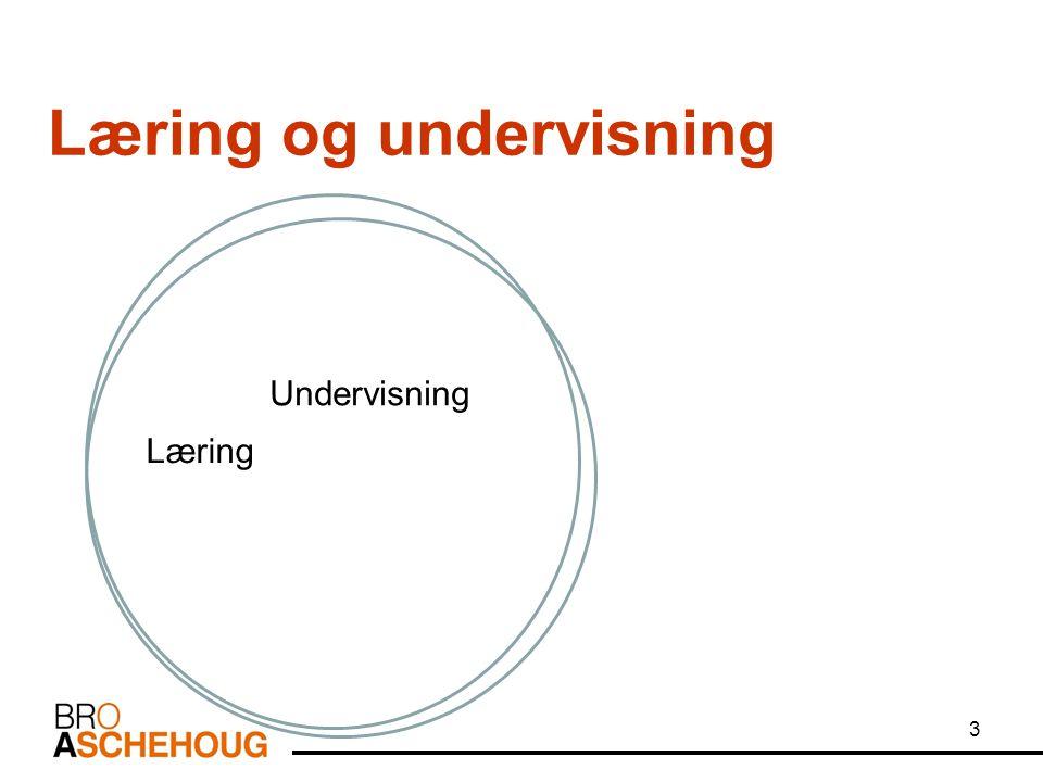 3 Læring og undervisning Læring Undervisning
