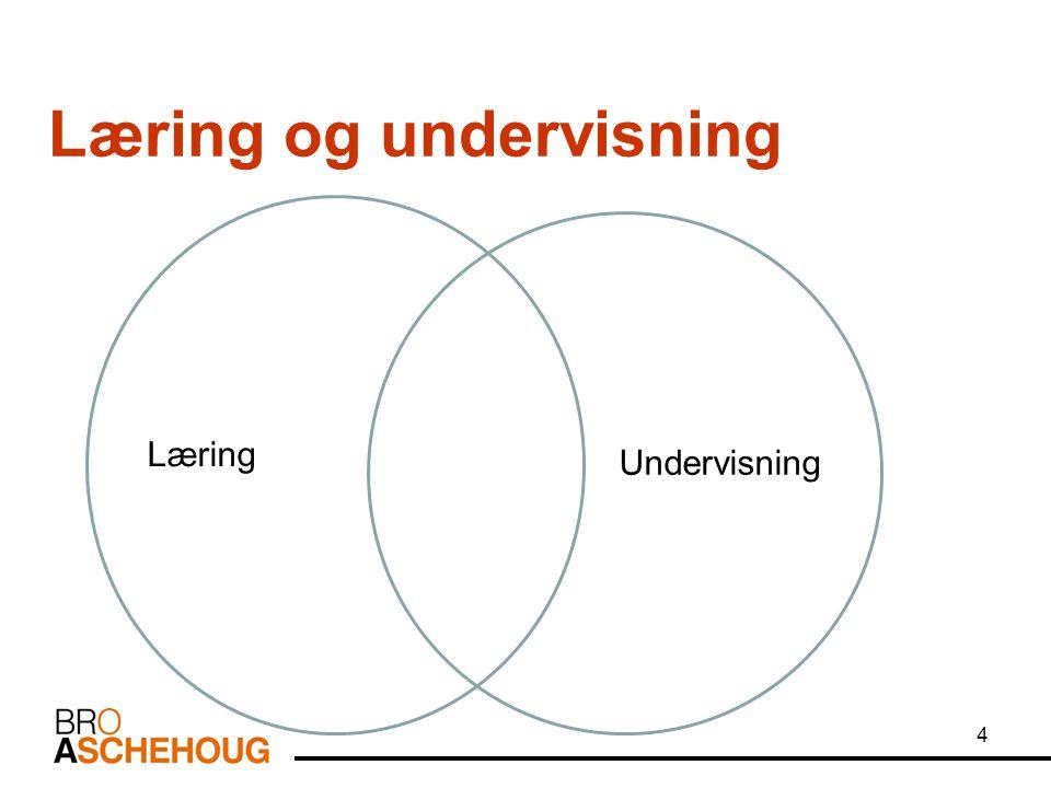 4 Læring og undervisning Læring Undervisning