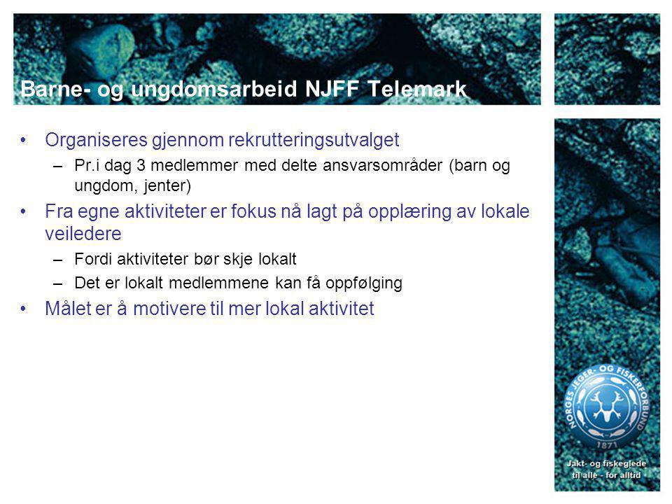 Rekrutteringstiltak 2008 Utdanning av lokale veiledere til jakt- og skyteaktiviteter Iverksettelse av kystpatruljen Sjøfisketur for etniske minoritetsgrupper Fokus på fiskeklubben – vi har noen stier å tråkke.