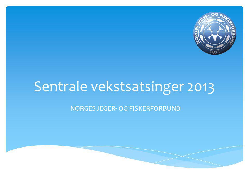 Sentrale vekstsatsinger 2013 NORGES JEGER- OG FISKERFORBUND