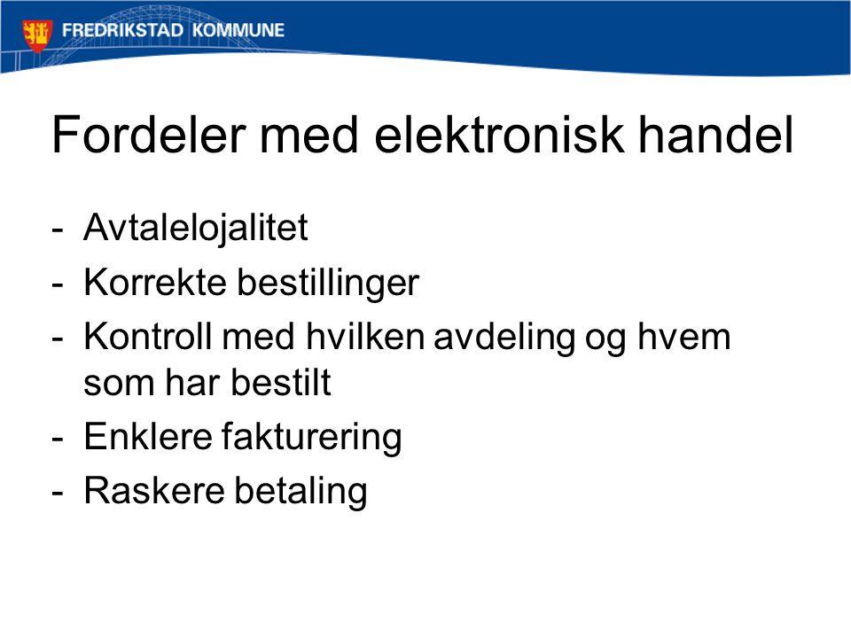 Avropsmetoder - Katalog -Fritekstbestilling -Ekstern nettbutikk / Round-trip / punch-out