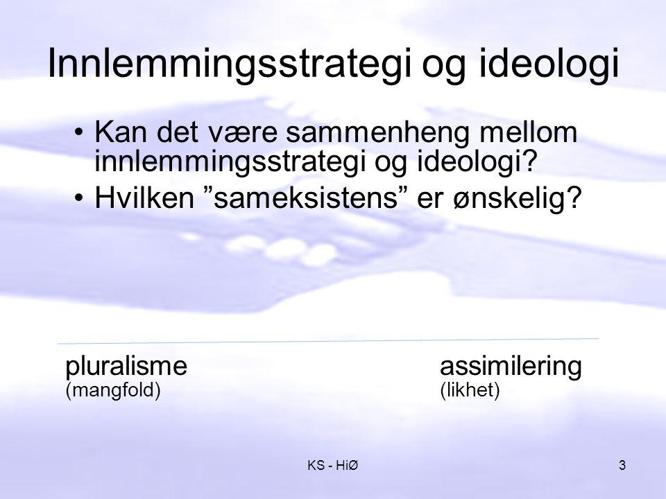 Ulike Innlemmingsstrategier segregering assimilering 4KS - HiØ