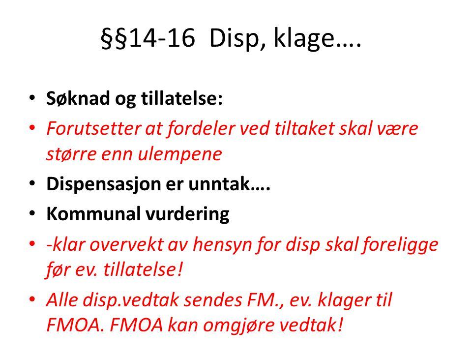 §§14-16 Disp, klage….