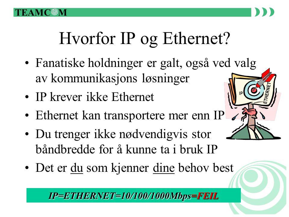 TEAMC M Hvorfor IP og Ethernet.