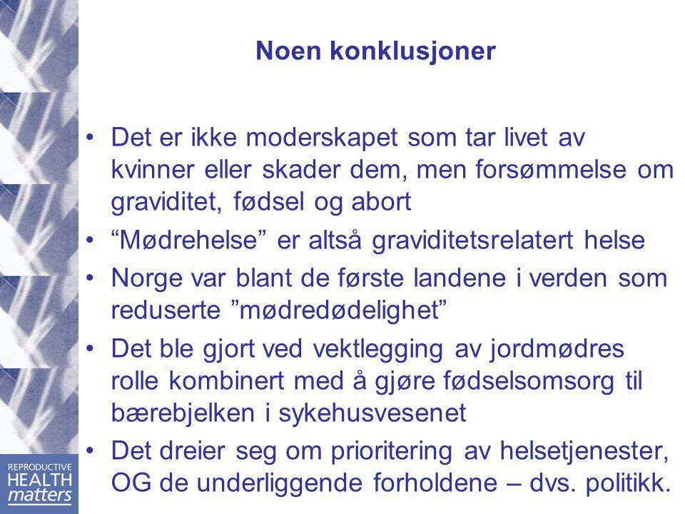 Utvikling av mødredødelighet i Norge