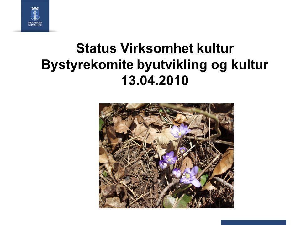 Status Virksomhet kultur Bystyrekomite byutvikling og kultur 13.04.2010