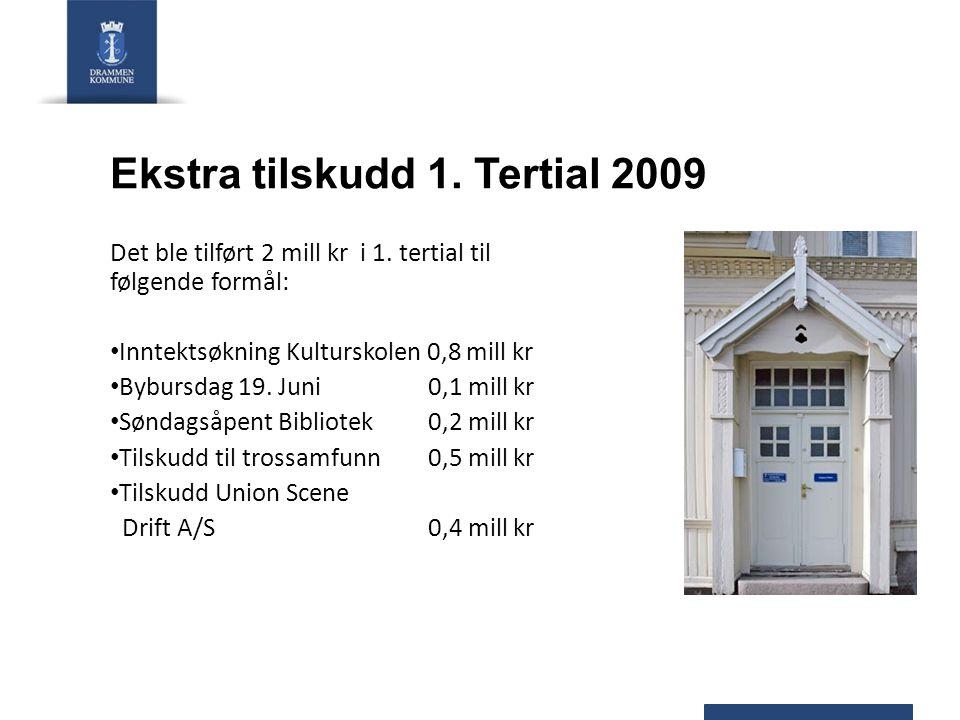 Ekstra tilskudd 1. Tertial 2009 Det ble tilført 2 mill kr i 1.