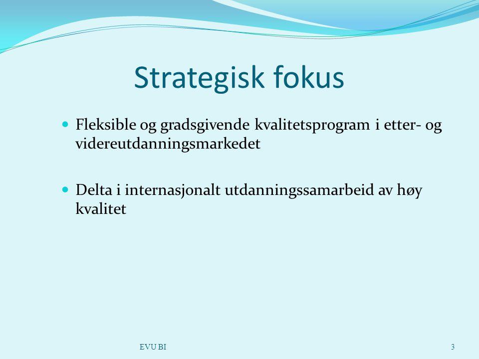 Fleksible og gradsgivende kvalitetsprogram i etter- og videreutdanningsmarkedet Delta i internasjonalt utdanningssamarbeid av høy kvalitet EVU BI3