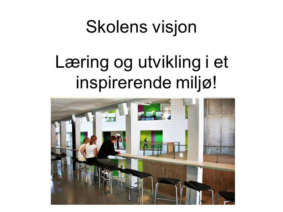 Skolens visjon Læring og utvikling i et inspirerende miljø!