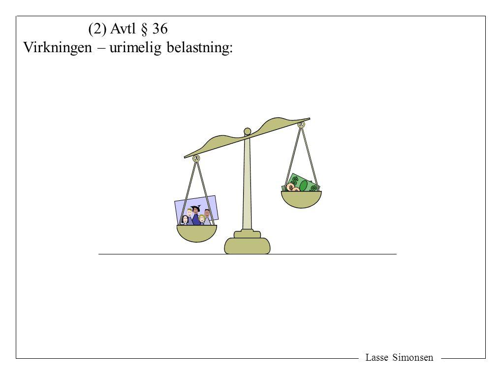 Y Lasse Simonsen (2) Avtl § 36 Virkningen – urimelig belastning: