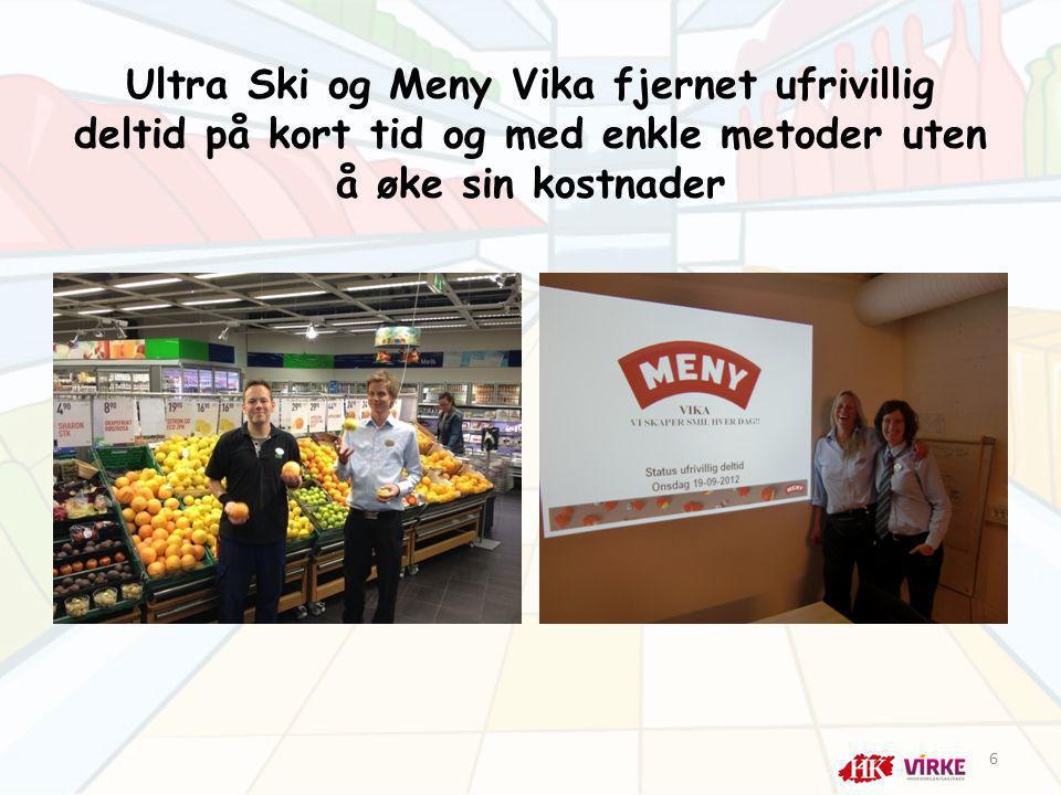 Ultra Ski og Meny Vika fjernet ufrivillig deltid på kort tid og med enkle metoder uten å øke sin kostnader 6