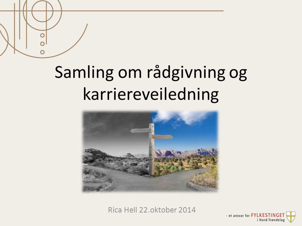 Samling om rådgivning og karriereveiledning Rica Hell 22.oktober 2014