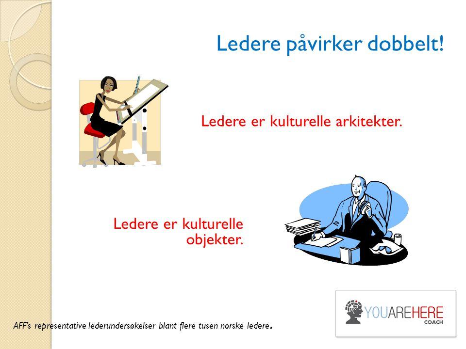 Ledere påvirker dobbelt! Ledere er kulturelle arkitekter. AFF's representative lederundersøkelser blant flere tusen norske ledere. Ledere er kulturell