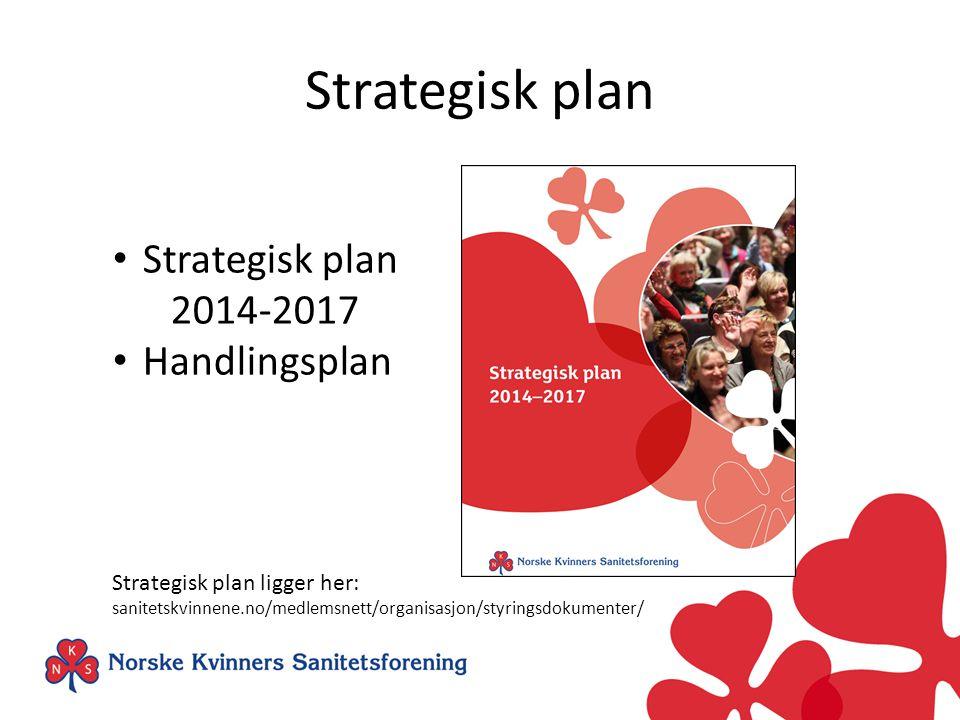 Strategisk plan 2014-2017 Handlingsplan Strategisk plan ligger her: sanitetskvinnene.no/medlemsnett/organisasjon/styringsdokumenter/