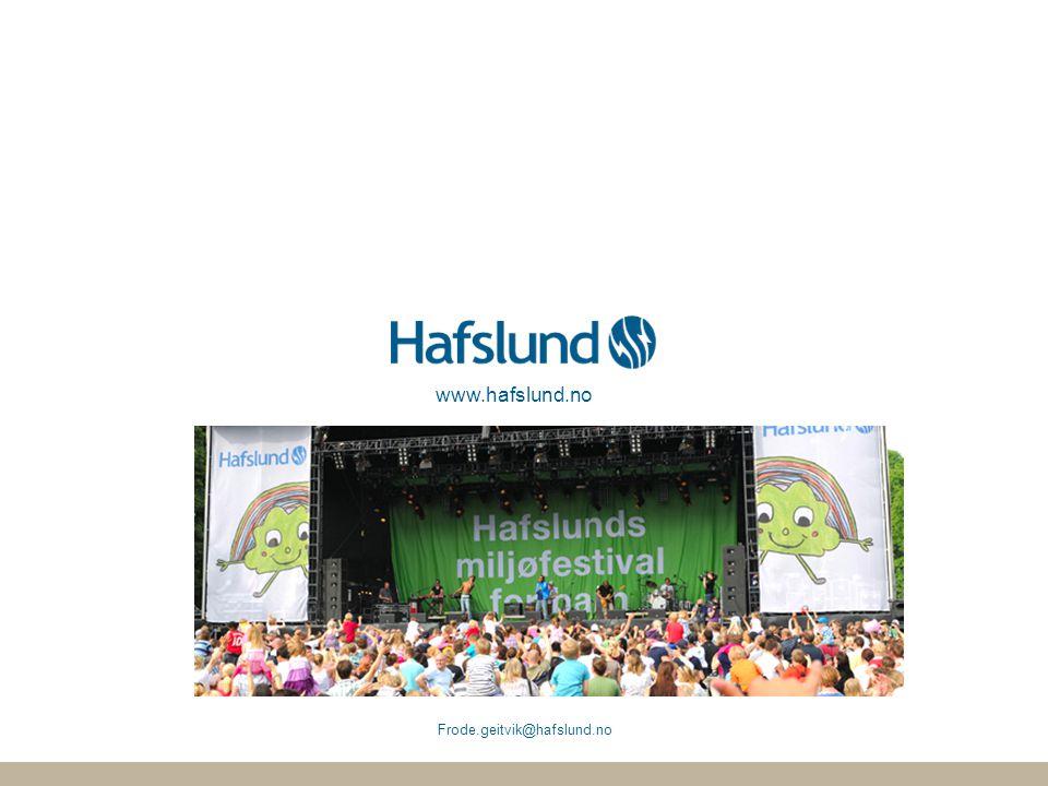 www.hafslund.no Frode.geitvik@hafslund.no