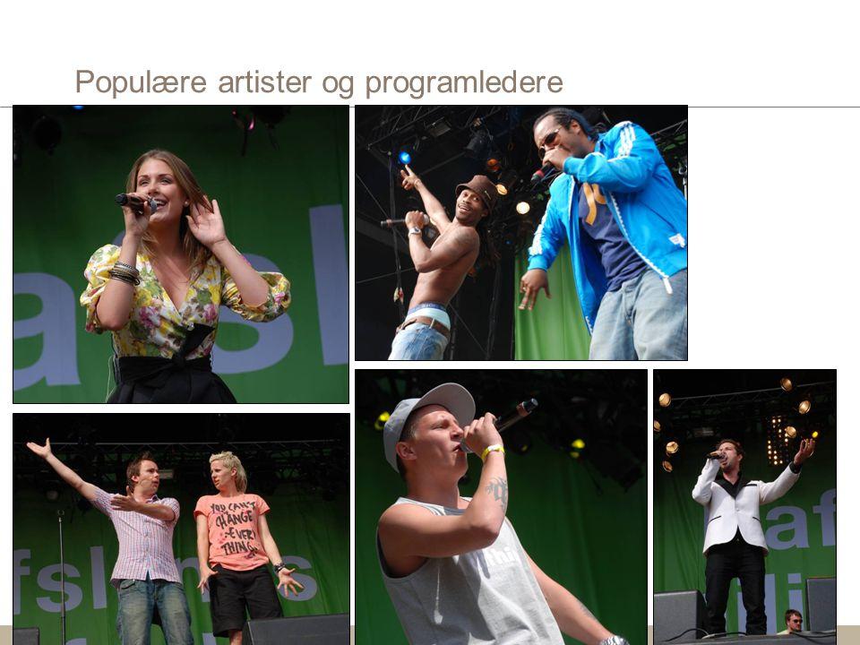 Populære artister og programledere