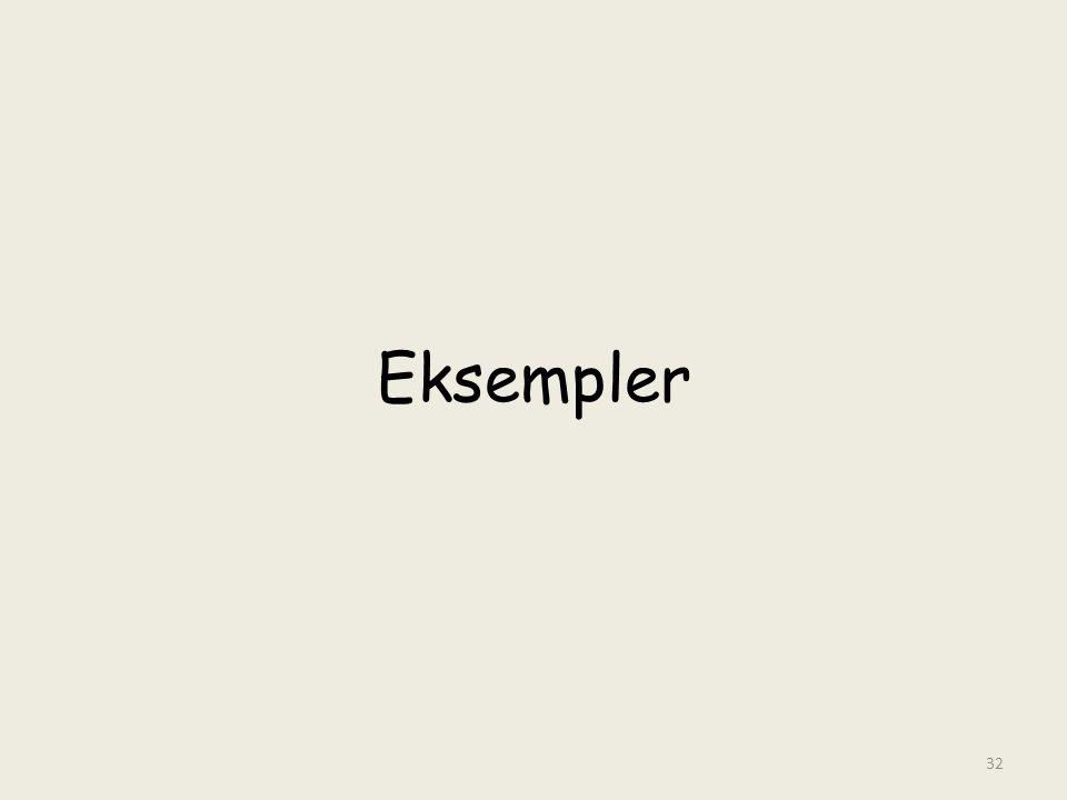 Eksempler 32