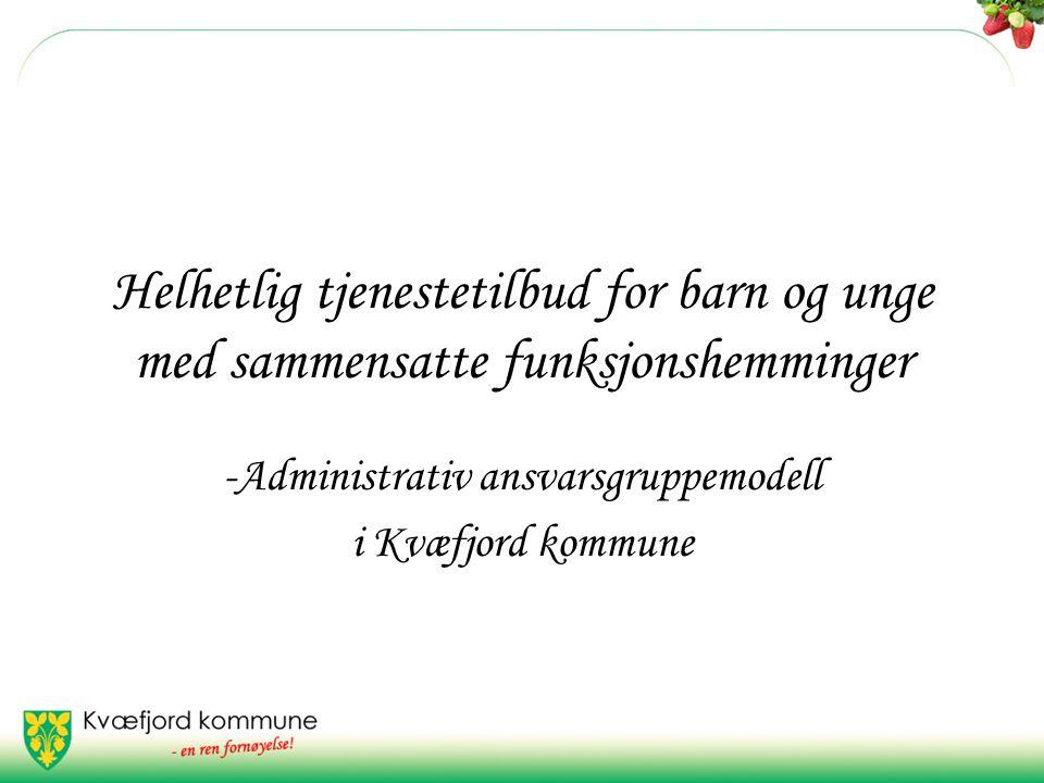 Helhetlig tjenestetilbud for barn og unge med sammensatte funksjonshemminger -Administrativ ansvarsgruppemodell i Kvæfjord kommune