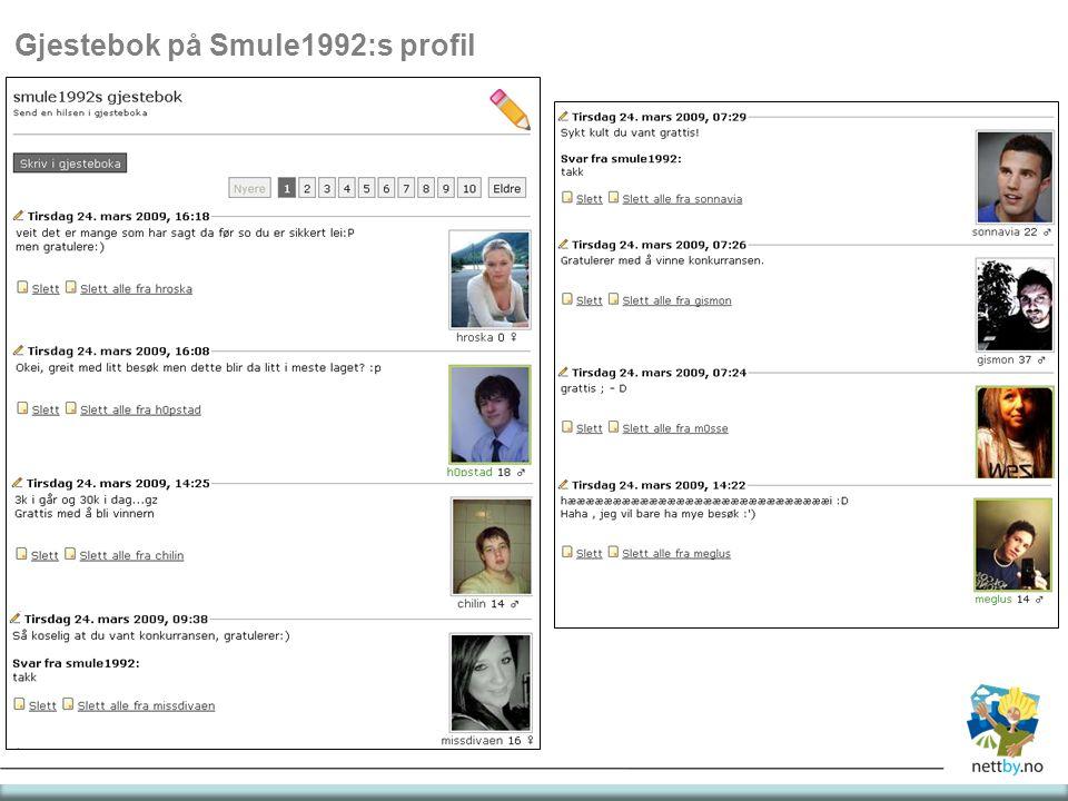 Gjestebok på Smule1992:s profil