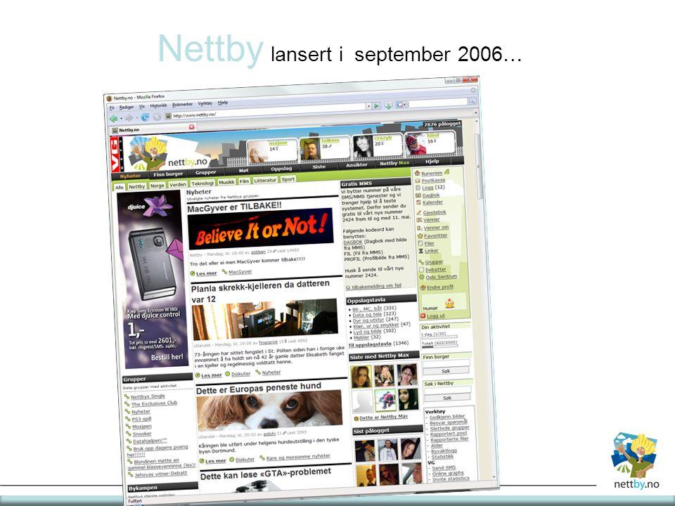 Nettby lansert i september 2006…