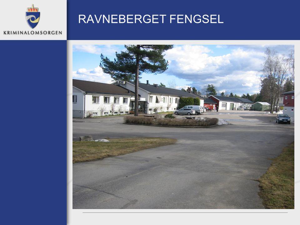 RAVNEBERGET FENGSEL Ligger i Sarpsborg Åpnet 26 juni 2006 For kvinner Ordinær kapasitet på 40 innsatte 45 personer sysselsatt Aspirantavdeling