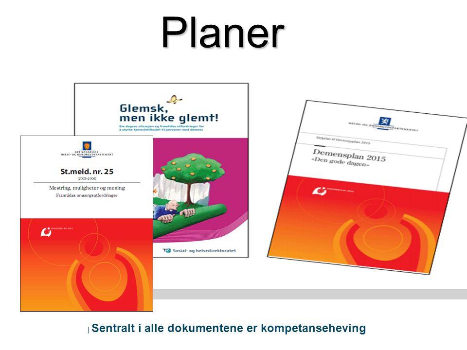   Sentralt i alle dokumentene er kompetanseheving Planer
