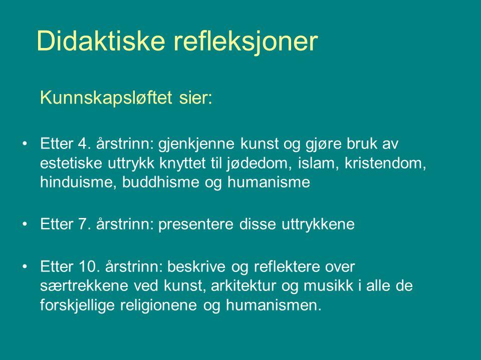 Didaktiske refleksjoner Etter 4.