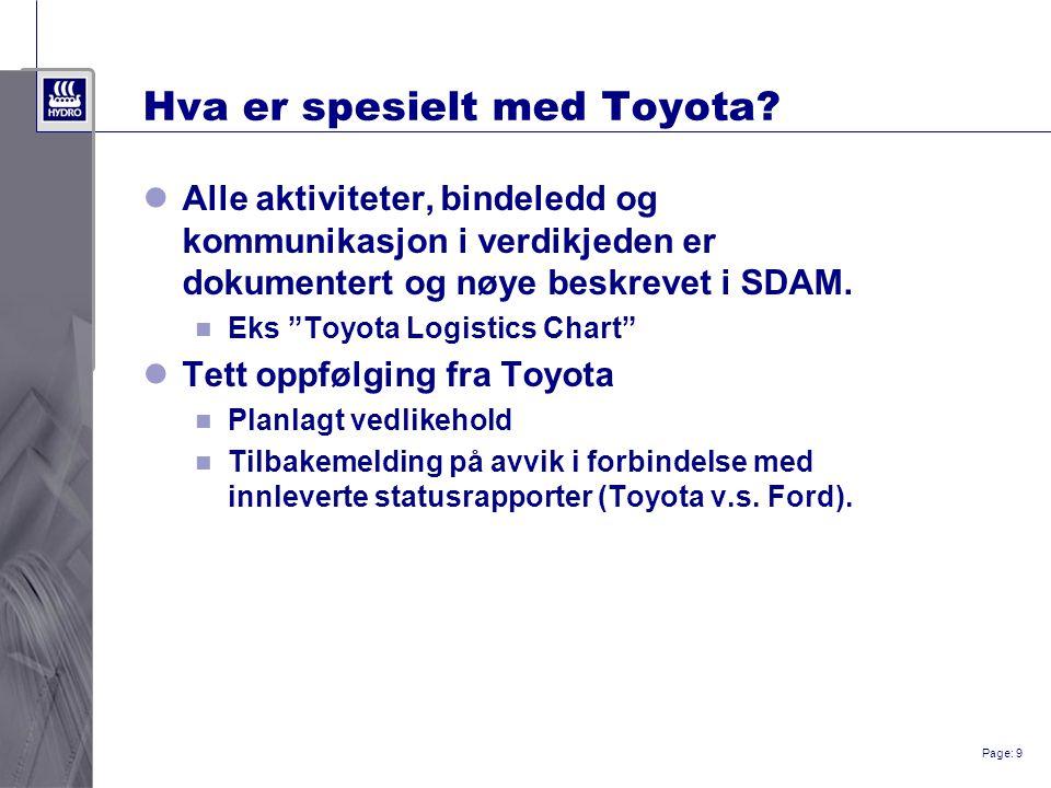 Page: 9 Hva er spesielt med Toyota.