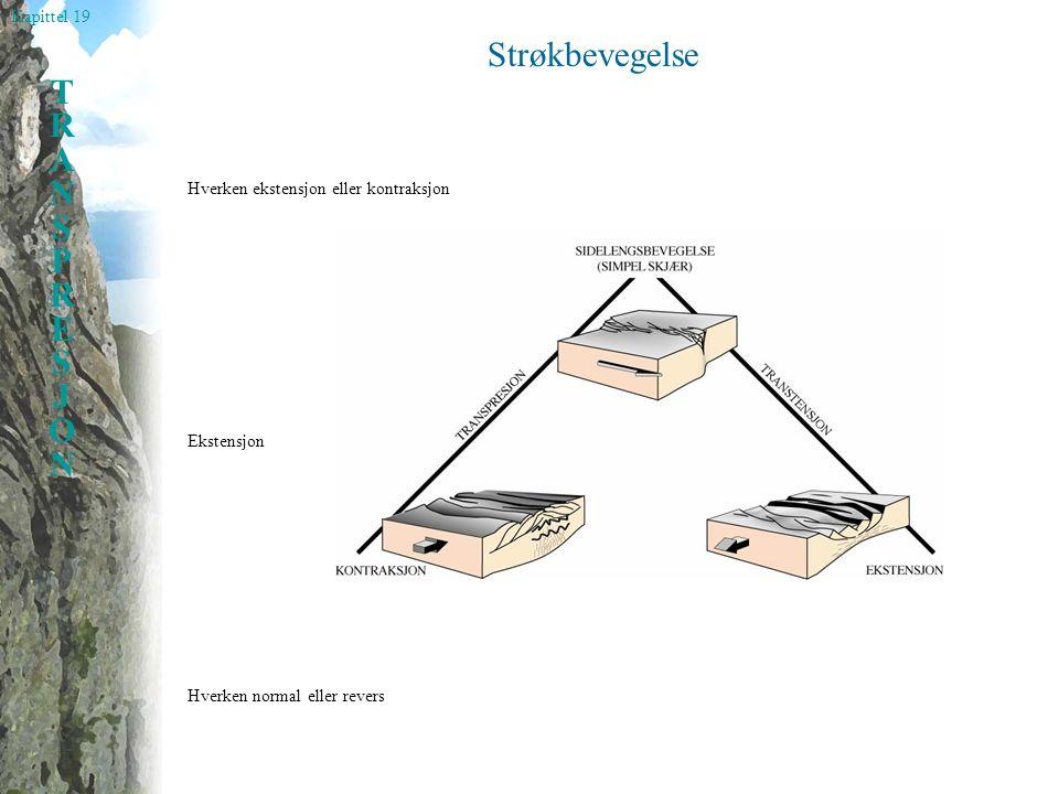 Kapittel 19 TRANSPRESJONTRANSPRESJON Strøkbevegelse Hverken normal eller revers Hverken ekstensjon eller kontraksjon Ekstensjon