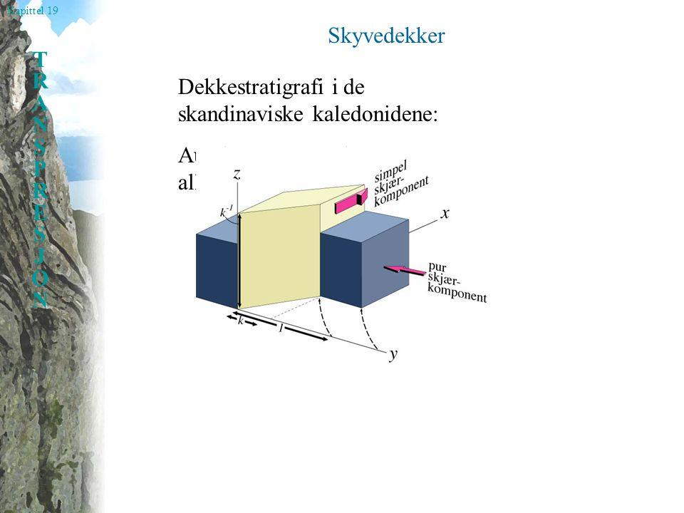 Kapittel 19 TRANSPRESJONTRANSPRESJON Skyvedekker Dekkestratigrafi i de skandinaviske kaledonidene: Autokton, parautokton og allokton