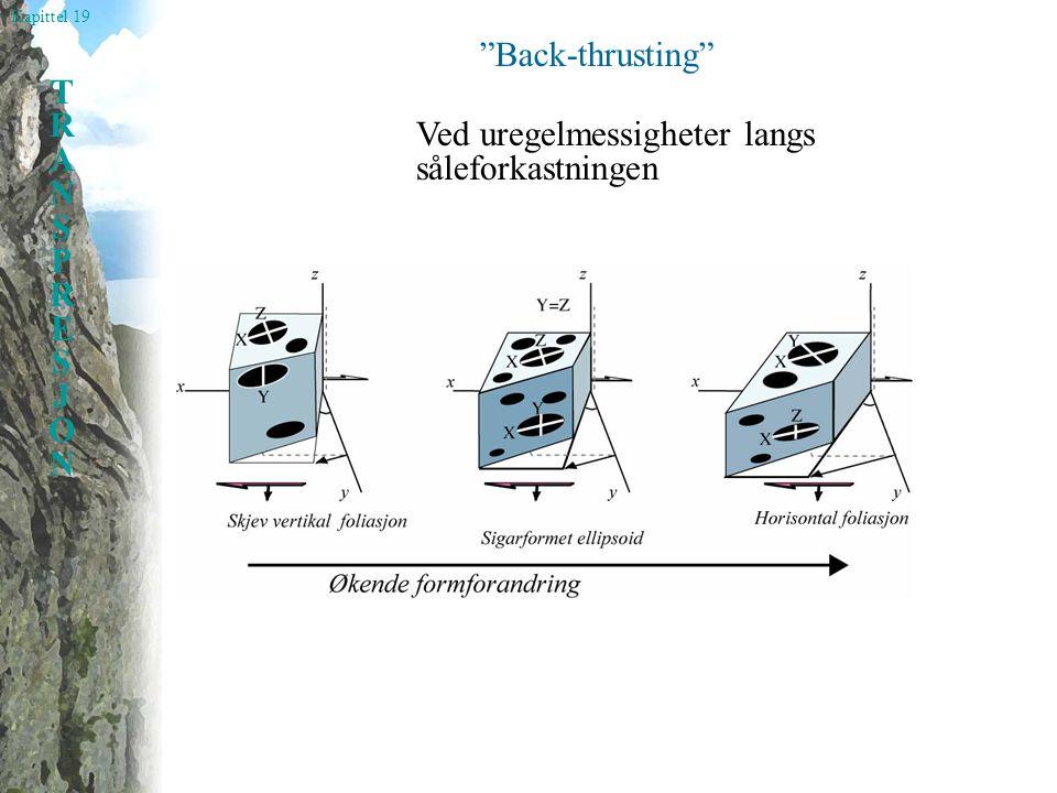 Kapittel 19 TRANSPRESJONTRANSPRESJON Back-thrusting Ved uregelmessigheter langs såleforkastningen