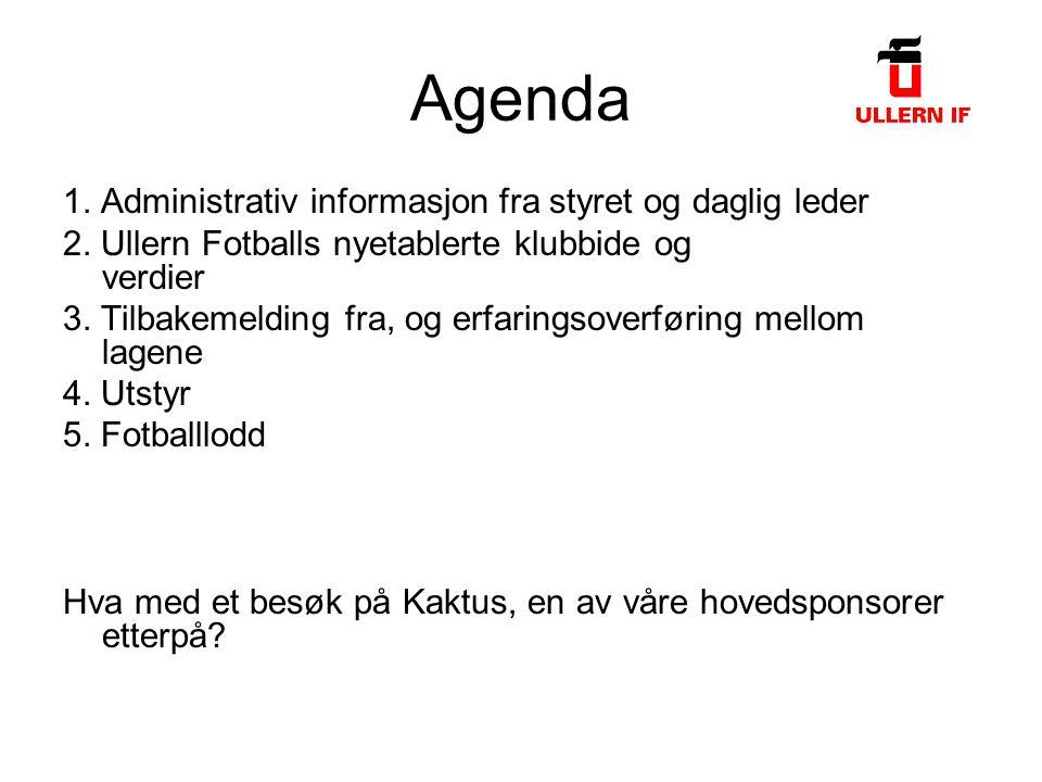 Agenda 1. Administrativ informasjon fra styret og daglig leder 2.