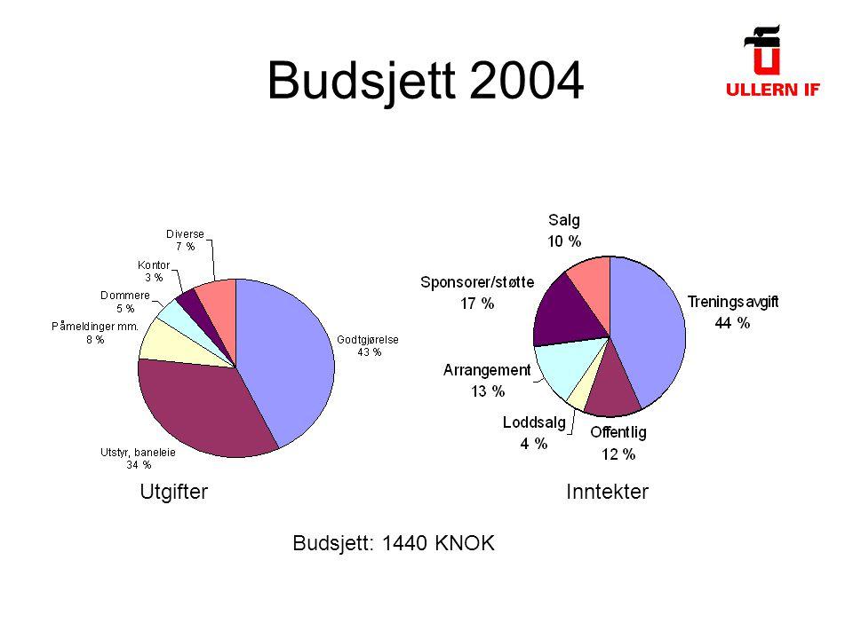 Budsjett 2004 UtgifterInntekter Budsjett: 1440 KNOK