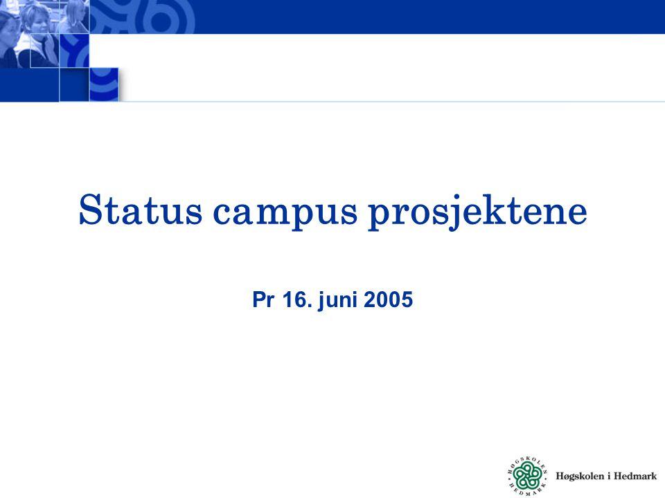 Status campus prosjektene Pr 16. juni 2005