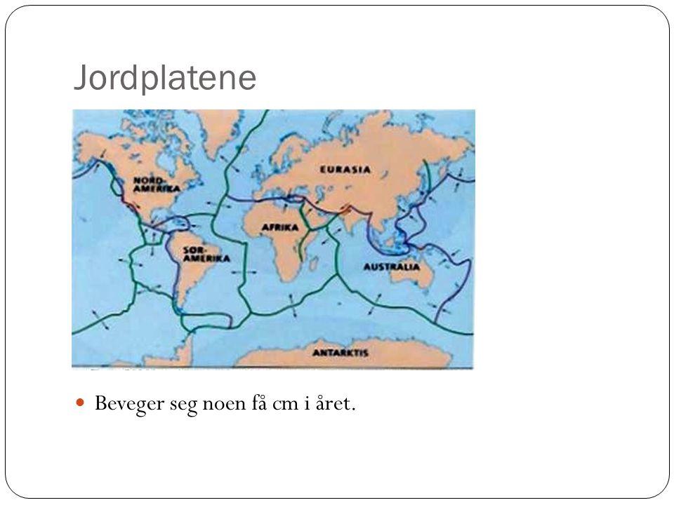 Jordplatene Beveger seg noen få cm i året.