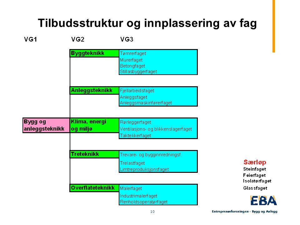 10 Tilbudsstruktur og innplassering av fag