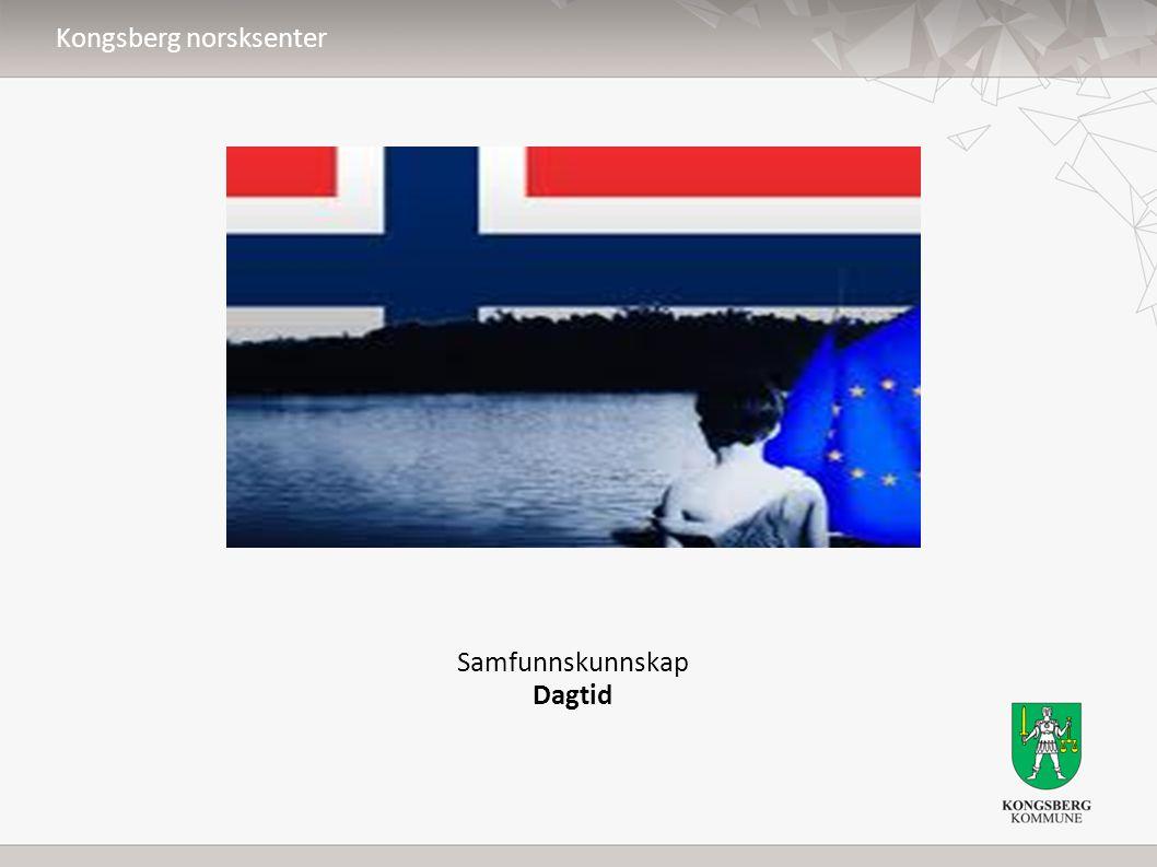 Samfunnskunnskap Dagtid Kongsberg norsksenter