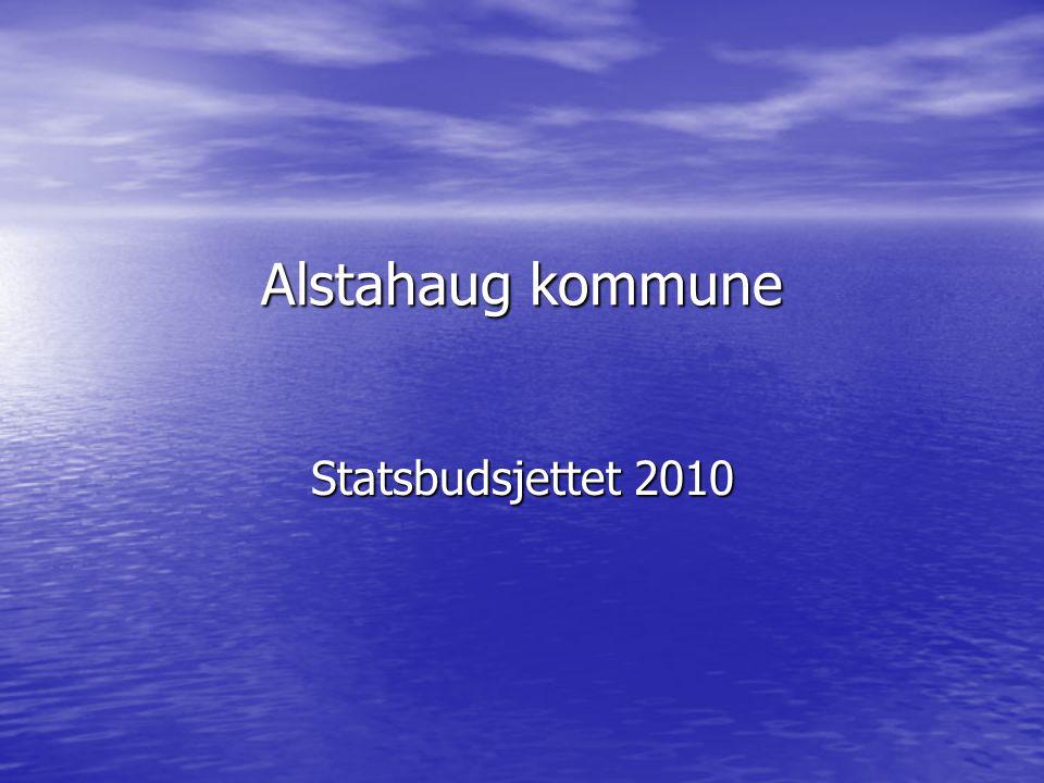 Alstahaug kommune Statsbudsjettet 2010